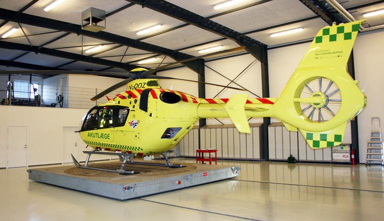 Landsdækkende helikopterbaser Midtjylland